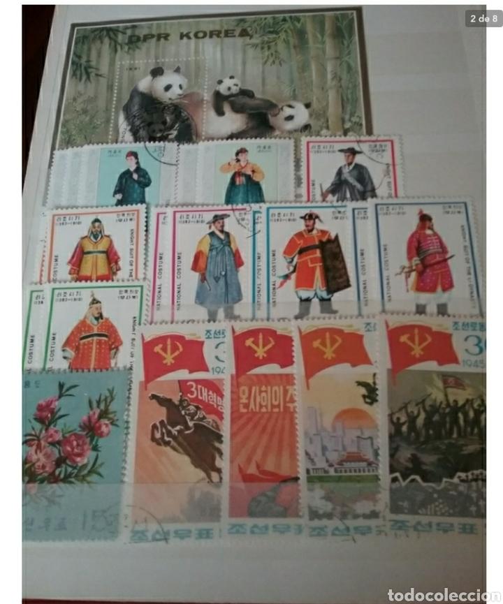 Sellos: Clasificador (170 x 220 cm) Sellos + HB Korea del Norte (Corea.DPRK) mtdos. VER FOTOS 8. - Foto 2 - 119151004