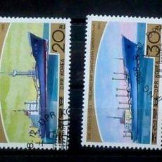 Sellos: COREA-BARCOS 1988. Lote 120339143