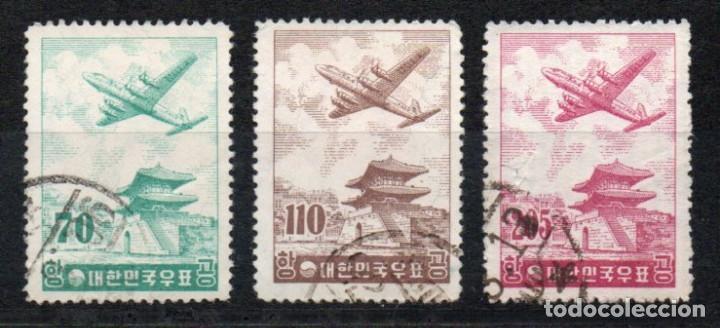COREA DEL SUR AÑO 1954 MI 240/42ºº CORREO AEREO AVIONES TRANSPORTES ARQUITECTURA (Sellos - Extranjero - Asia - Corea)