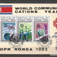Sellos: COREA DEL NORTE AÑO 1983. AÑO INTERNACIONAL DE LAS COMUNICACIONES. Lote 172316525
