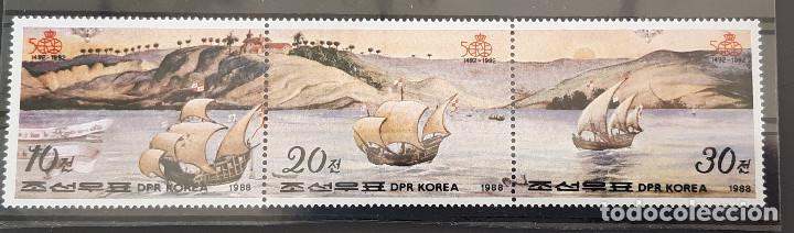 COREA DEL NORTE , 1988, YVERT 1944-46 ** BARCOS (Sellos - Extranjero - Asia - Corea)