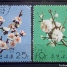 Sellos: FLORES SERIE DE SELLOS USADOS DE KOREA. Lote 190373473