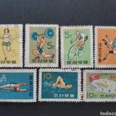Francobolli: COREA NORTE, YVERT 242-48, 1960 DEPORTES. Lote 194106961