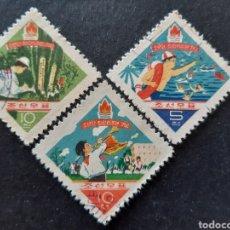 Francobolli: COREA NORTE, YVERT 298-00, 1961. Lote 194107120