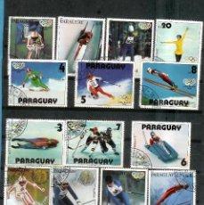 Sellos: LOTE DE SELLOS DE PARAGUAY. DEPORTES OLÍMPICOS DE INVIERNO. Lote 202741966
