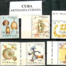 Sellos: LOTE DE SELLOS DE CUBA. ARTESANÍA CUBANA. Lote 202757082