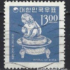 Selos: COREA DEL SUR 1966-67 - ICONOS NACIONALES, INCIENSIERO DE PORCELANA. SIGLOS XI-XII - SELLO USADO. Lote 210579133