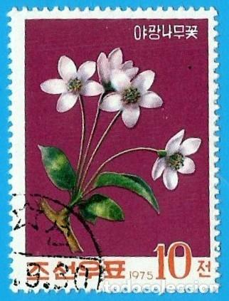 COREA. REPUBLICA POPULAR. 1975. FLORES. MANZANA SALVAJE (Sellos - Extranjero - Asia - Corea)
