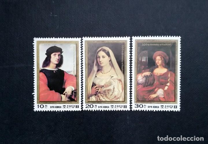 SELLOS DE COREA DEL NORTE, 1984, V ANIVERSARIO DEL NACIMIENTO DE RAPHAEL, 1483-1520 (Sellos - Extranjero - Asia - Corea)
