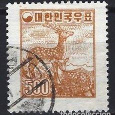 Timbres: COREA DEL SUR 1954 - FAUNA, CIERVO SICA - USADO. Lote 214443865