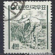 Selos: COREA DEL SUR 1962-63 - ICONOS NACIONALES CON LA NUEVA MONEDA, LABRADOR - USADO. Lote 214444661