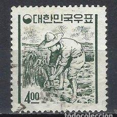Timbres: COREA DEL SUR 1962-63 - ICONOS NACIONALES CON LA NUEVA MONEDA, LABRADOR - USADO. Lote 214444673