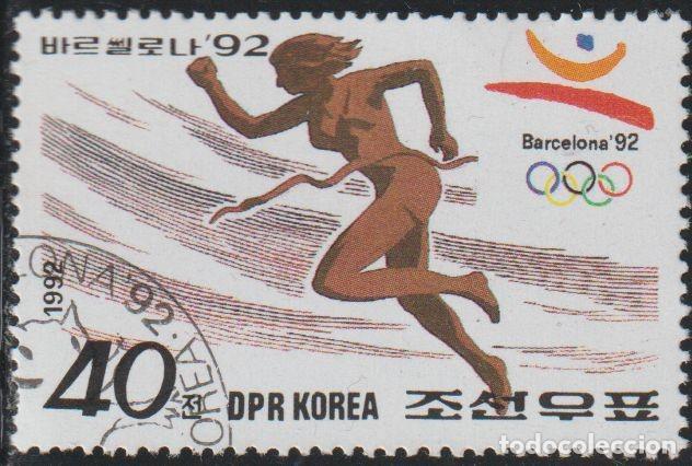 COREA NORTE 1992 SCOTT 3086 SELLO * DEPORTES SPORT JJOO BARCELONA CARRERA DE OBSTACULOS MICHEL 3289 (Sellos - Extranjero - Asia - Corea)
