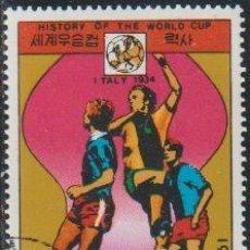 Sellos: COREA NORTE 1978 SCOTT 1699 SELLO * DEPORTES SPORT HISTORIA FIFA WORLD CUP PAISES SEDE ITALIA 1934. Lote 222061493