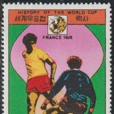Sellos: COREA NORTE 1978 SCOTT 1700 SELLO * DEPORTES SPORT HISTORIA FIFA WORLD CUP PAISES SEDE FRANCIA 1938. Lote 222061790