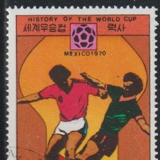 Sellos: COREA NORTE 1978 SCOTT 1706 SELLO * DEPORTES SPORT HISTORIA FIFA WORLD CUP PAISES SEDE MEXICO 1970. Lote 222063303