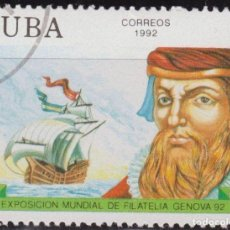 Sellos: CUBA 1992 SCOTT 3441 SELLO * EXPO FILATELICA GENOVA MARINEROS ALVAREZ CABRAL BARCOS MICHEL 3601. Lote 222069792