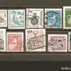 Sellos: COREA DEL SUR CONJUNTO DE SELLOS USADOS DE LOS AÑOS 1966-1967. Lote 224438963
