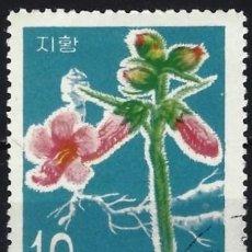 Sellos: COREA DEL NORTE 1967 - PLANTAS MEDICINALES - USADO. Lote 235231850