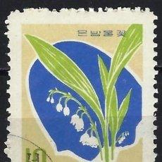 Sellos: COREA DEL NORTE 1966 - PLANTAS SILVESTRES - USADO. Lote 235232210