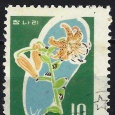 Sellos: COREA DEL NORTE 1966 - PLANTAS SILVESTRES - USADO. Lote 235232285