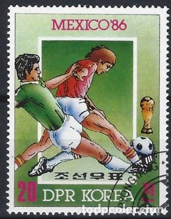 COREA DEL NORTE 1985 - CAMPEONATO MUNDIAL DE FÚTBOL DE MÉXICO 86 - USADO (Sellos - Extranjero - Asia - Corea)