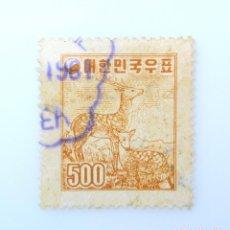 Sellos: SELLO POSTAL COREA DEL SUR 1958, 500 H, CIERVO SIKA (CERVUS NIPPON) , USADO. Lote 241478135