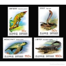Sellos: 🚩 KOREA 2009 REPTILES MNH - REPTILES, CROCODILES, TURTLES. Lote 243289935