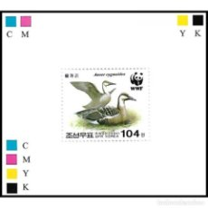 Sellos: 🚩 KOREA 2004 ГУСИ MNH - DUCKS, IMPERFORATES. Lote 244889615