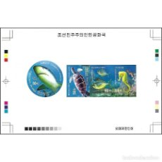 Sellos: 🚩 KOREA 2013 SEA CREATURES MNH - FISH, SHARKS, SEA TURTLES, MARINE FAUNA. Lote 244890585