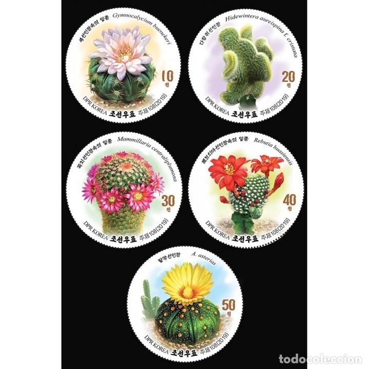 ⚡ DISCOUNT KOREA 2019 CACTUS MNH - FLOWERS, CACTI (Sellos - Extranjero - Asia - Corea)