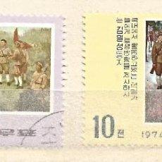 Selos: COREA - 1974 - 2 VALORES - USADO. Lote 262283430