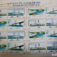 Sellos: O) 2006 KOREA, PUENTES, CHANGSEON, OLYMPIC, SECHAE, INGENIERIA CIVIL, SCT 2231, PERF SYNCOPATED, MNH. Lote 262656340