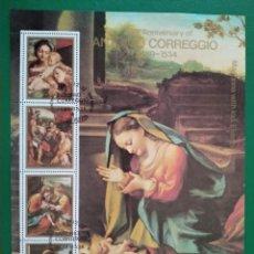 Sellos: COREA DEL NORTE 1983. ANTONIO CORREGGIO (1489-1534), 450 ANIVERSARIO. MUERTE. Lote 286246498