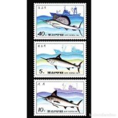Sellos: DPR2332-34 KOREA 1984 MNH FISH AND SHIPS. Lote 287521948