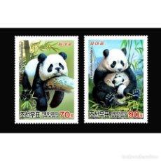 Sellos: DPR4838-9 KOREA 2012 MNH PANDA. Lote 287522513