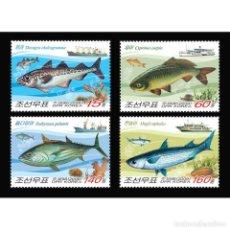Sellos: DPR4653-6 KOREA 2009 MNH FISH. Lote 287523583