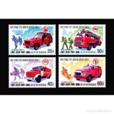 Selos: DPR4099-2 KOREA 2001 MNH FIRE TRUCKS. Lote 293395618