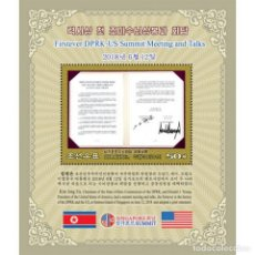 Sellos: ⚡ DISCOUNT KOREA 2019 FIRST HIGH-LEVEL TALKS BETWEEN THE DPRK AND THE UNITED STATES MNH - PO. Lote 297146698