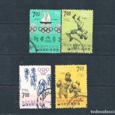 Sellos: COREA DEL SUR OLIMPIADAS DE MEXICO 1968 LOTE DE 4 SELLOS. Lote 297167473