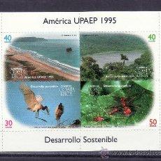 Sellos: COSTA RICA HB 16 SIN CHARNELA, TEMA UPAEP, PRESERVACION DEL SISTEMA ECOLOGICO Y DESARROLLO. Lote 25600144