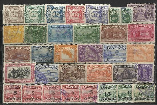 Sellos: BONITA COLECCION ANTIGUA MATASELLADA DE COSTA RICA - Foto 3 - 30813058