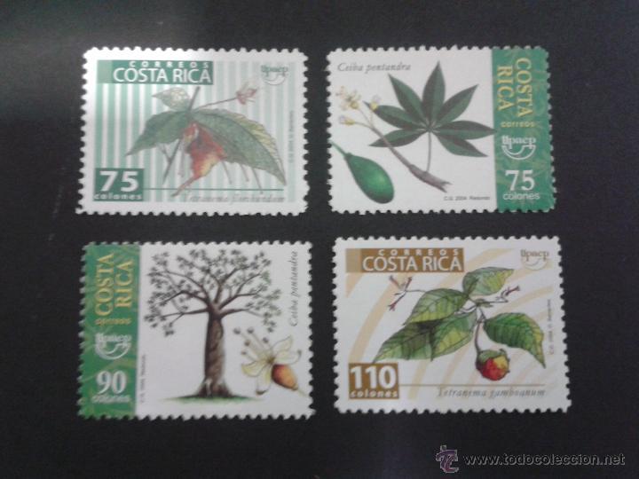 SELLOS COSTA RICA. FLORA. YVERT 748/51. SERIE NUEVA..AMÉRICA UPAEP. ÁRBOLES (Sellos - Extranjero - América - Costa Rica)