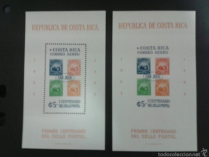 SELLOS DE COSTA RICA. SELLOS SOBRE SELLOS YV. HB- 6 DENT. Y SIN DENT.. SERIE CTA NUEVA SIN CHARNELA. (Sellos - Extranjero - América - Costa Rica)