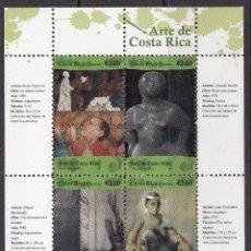 Sellos: COSTA RICA 2008 HOJA BLOQUE ARTE DE COSTA RICA. . Lote 53255427