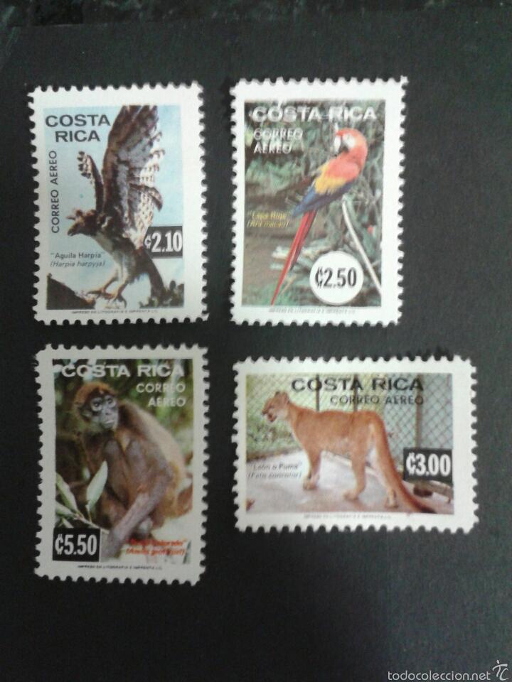 SELLOS DE COSTA RICA. FAUNA. YVERT A-603/5. SERIE COMPLETA NUEVA SIN CHARNELA. (Sellos - Extranjero - América - Costa Rica)