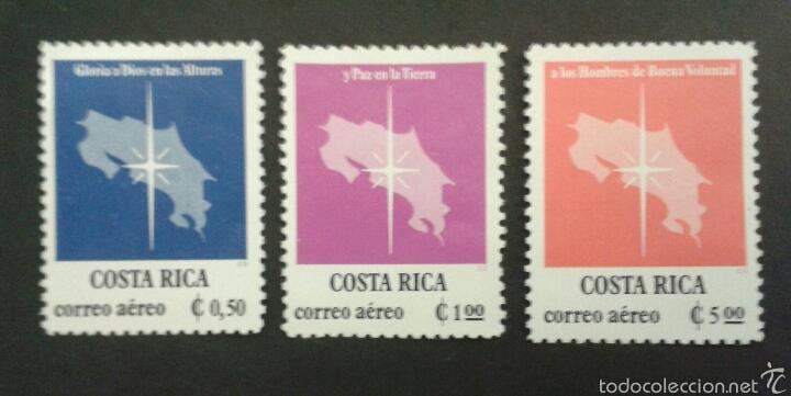 SELLOS DE COSTA RICA. MAPAS. YVERT A-713/5. SERIE COMPLETA NUEVA SIN CHARNELA. (Sellos - Extranjero - América - Costa Rica)
