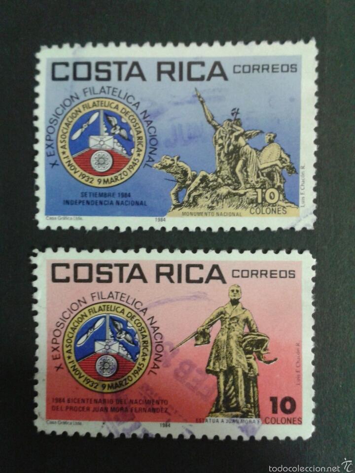 SELLOS DE COSTA RICA. YVERT 395/6. SERIE COMPLETA USADA. (Sellos - Extranjero - América - Costa Rica)