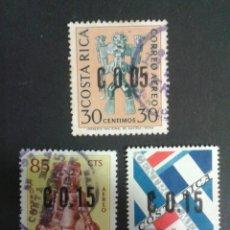 Sellos: SELLOS DE COSTA RICA. YVERT 389/91. SERIE COMPLETA USADA. SOBRECARGADOS. Lote 53457199