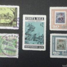 Sellos: SELLOS DE COSTA RICA. SELLOS SOBRE SELLOS. YVERT A-644/8. SERIE COMPLETA USADA.. Lote 53469053